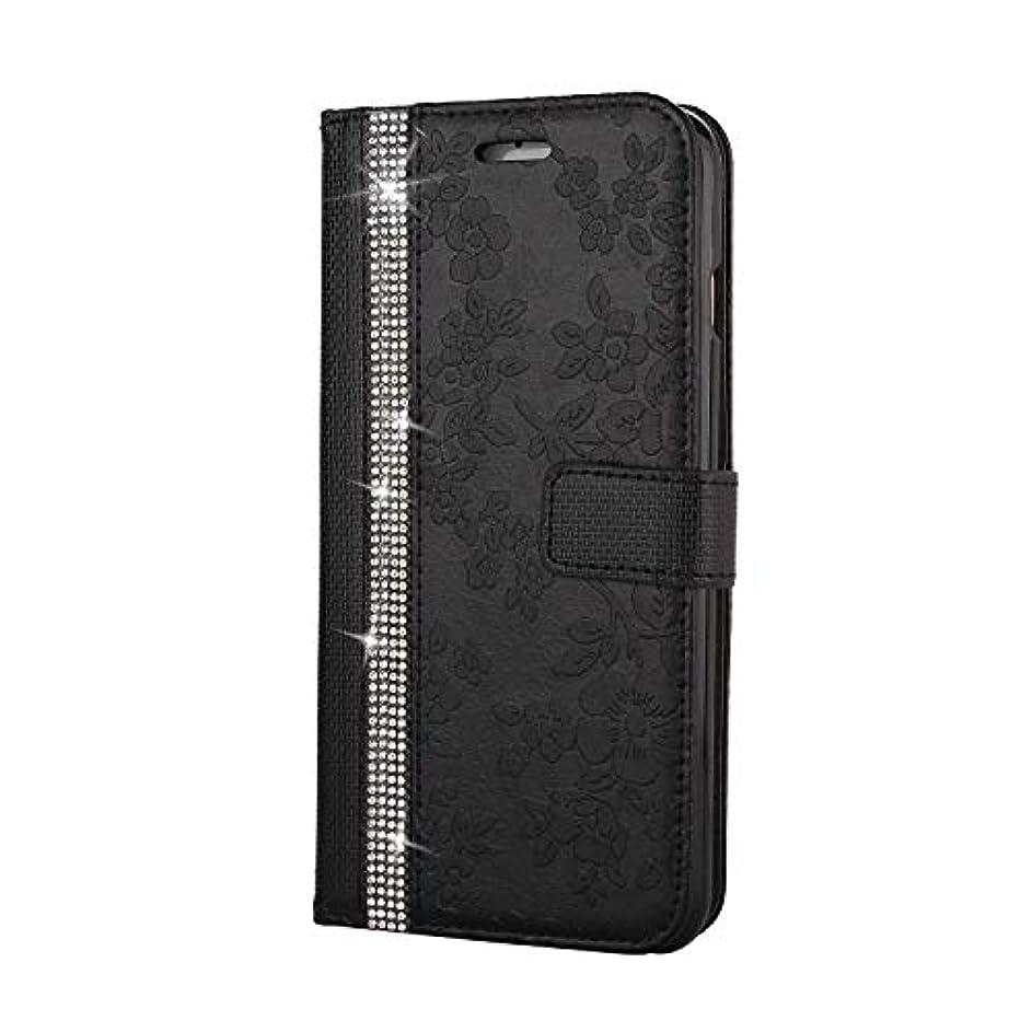 スティック泣いている太字CUNUS iPhone 6 Plus/iPhone 6S Plus 用 ウォレット ケース, プレミアム PUレザー 全面保護 ケース 耐衝撃 スタンド機能 耐汚れ カード収納 カバー, ブラック