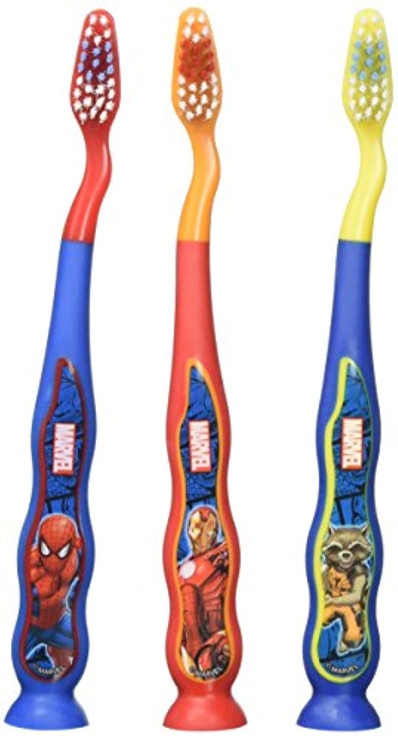 リスクいつも十代欠品中/ スパイダーマン 子供用 歯ぶらし 吸盤 3本セット【30535】 [並行輸入品]