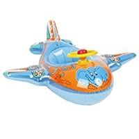 Topwon Babies Kids Swimming Inflatable Boat Swimming Pool Fish Float Jumbo Jet For 1-4 Years Old - Blue [並行輸入品]