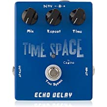 Caline Electric Guitar Effect Pedals DC 9V Time Space Analogy Delay Acoustic Guitar Pedal True Bypass with Aluminum Alloy Housing Blue CP17