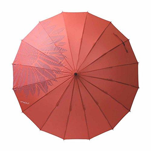 mabu(マブ) レディース おしゃれ ベーシックジャンプ16(柄) 58cm ジャンプ傘 (フルールカーマイン)