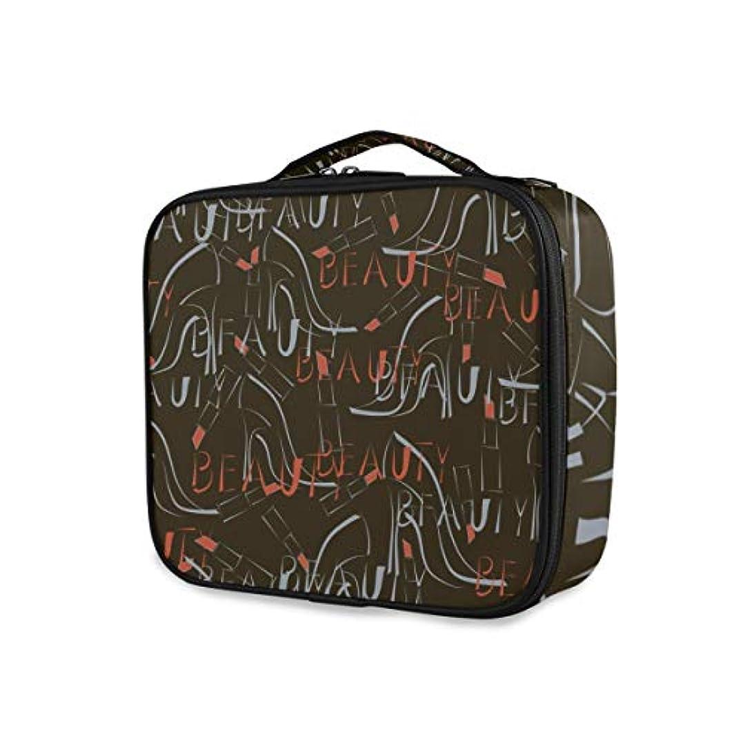 外部記述するファブリックKAPANOU プロ用 メイクボックス シームレスパターンハイヒール靴口紅ワード 多機能 高品質 美容師 マニキュリスト 刺青師 専用 化粧ボックス メイクアップアーティスト 収納ケース メイクブラシ 化粧道具 大容量