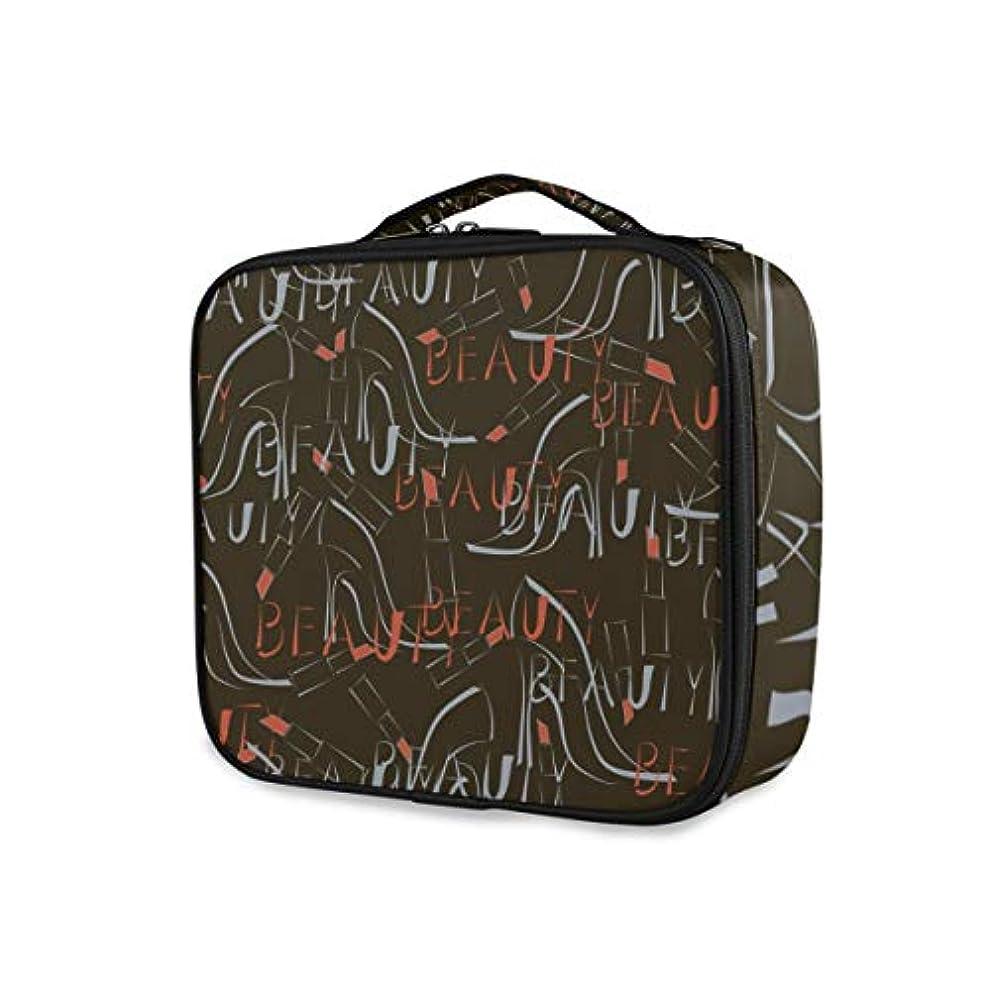 めったに土器作詞家KAPANOU プロ用 メイクボックス シームレスパターンハイヒール靴口紅ワード 多機能 高品質 美容師 マニキュリスト 刺青師 専用 化粧ボックス メイクアップアーティスト 収納ケース メイクブラシ 化粧道具 大容量