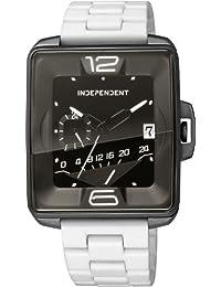 [インディペンデント]INDEPENDENT 腕時計 Innovative Line Swing レトログラード24時間計付 ステンレス×シリコンラバーコーティングバンドモデル BQ5-048-53 メンズ