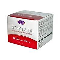 海外直送品 Life-Flo Retinol A 1% Advanced Revitalization Cream, 1.7 oz- 2 Packs