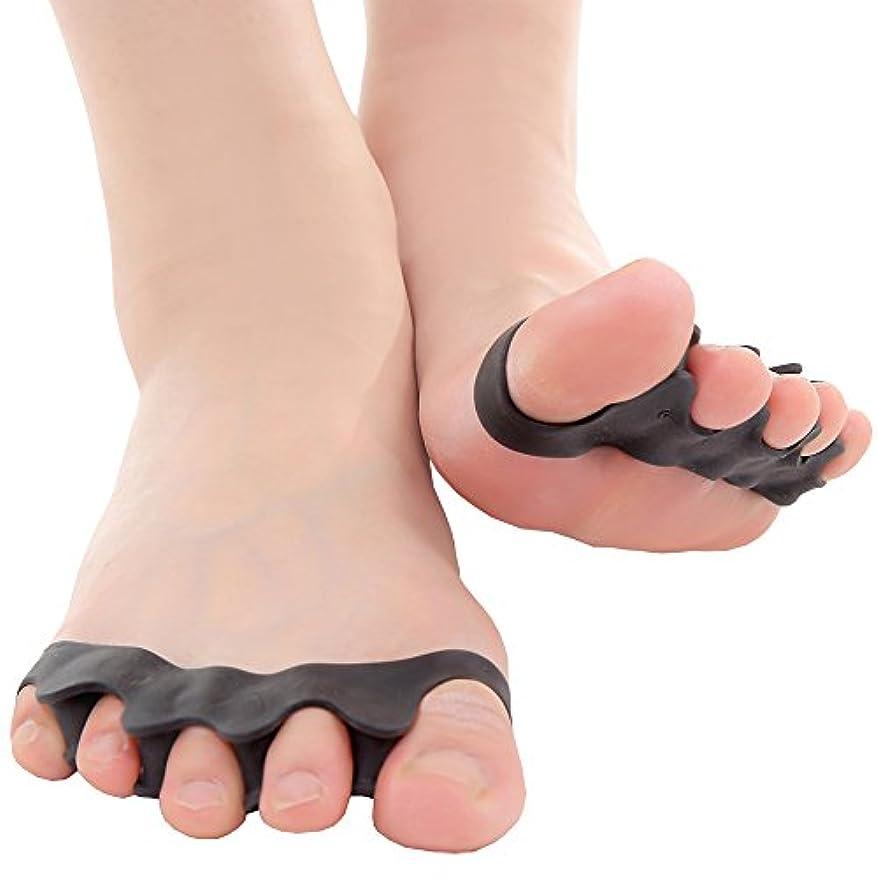 移行する天気受益者mark zenis  外反母趾 足指シリコン サポーター 女性用 2個セット ブラック