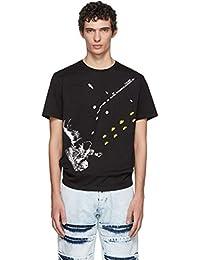 (ラフ シモンズ) Raf Simons メンズ トップス Tシャツ Black Slim Fit Astronaut T-Shirt [並行輸入品]