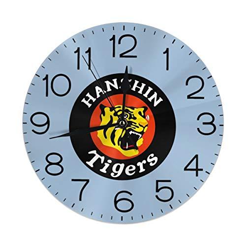 阪神タイガース3 掛け時計 壁掛け時計 置き時計 丸型 サイレント 連続秒針 デジタル ウォールクロック おしゃれ デジタル時計 高級感 装飾