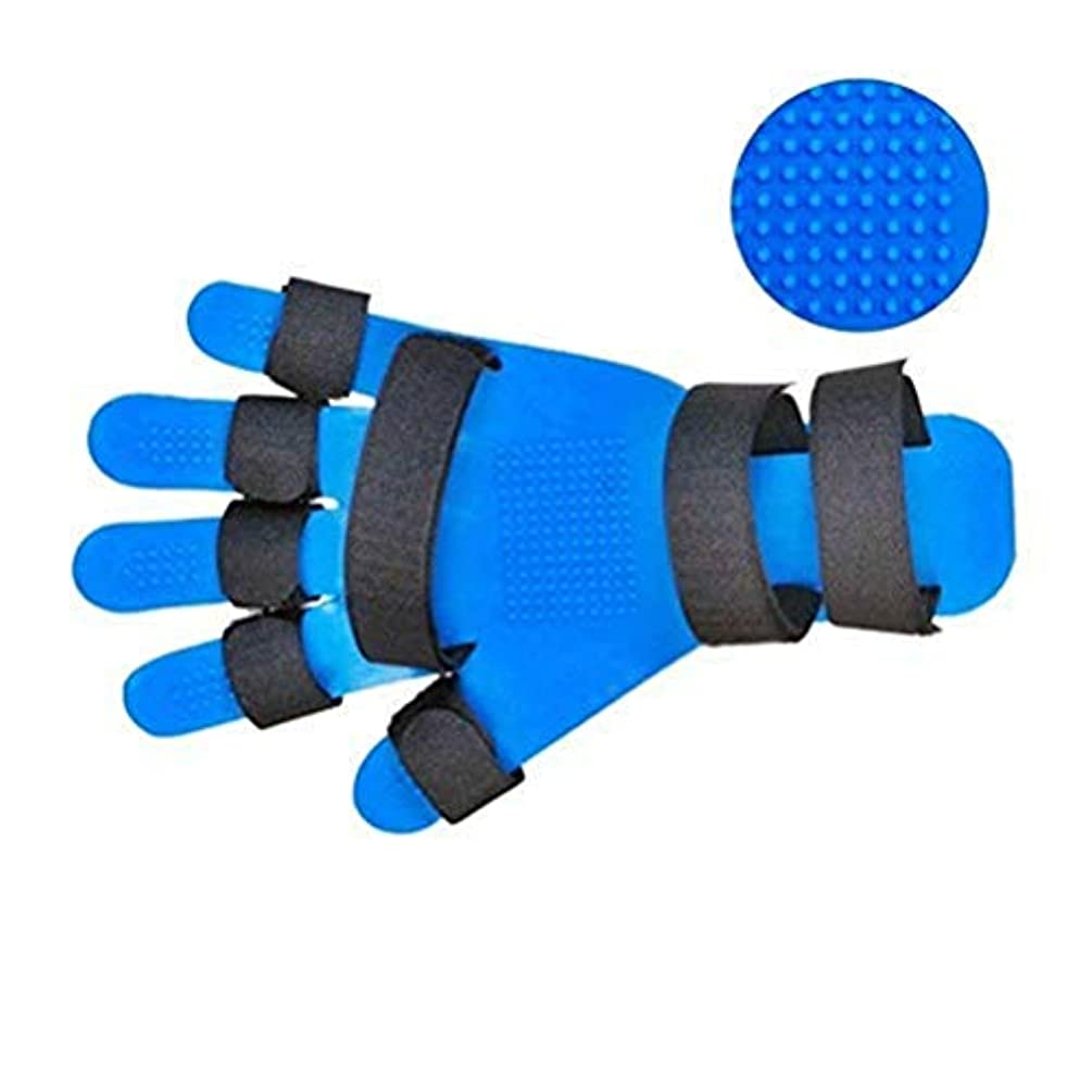 リンケージルーキー寄り添うフィンガースプリントフィンガー拡張スプリント、指の骨折、傷、手首のトレーニング装具のために指セパレーターインソール