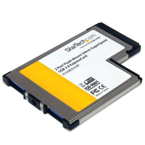 StarTech 2ポート SuperSpeed USB 3.0増設用ExpressCard/54 アダプタカード ECUSB3S254F 1個