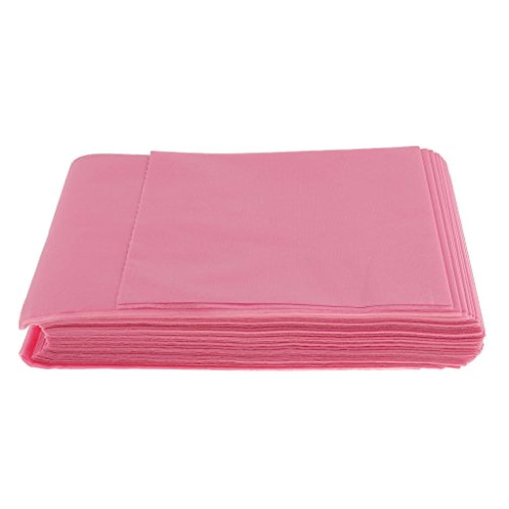 夕食を食べる考え血まみれBaosity 10枚入り 使い捨て 美容室/マッサージ/サロン/ホテル ベッドパッド 無織PP 衛生シート 全3色選べ - ピンク