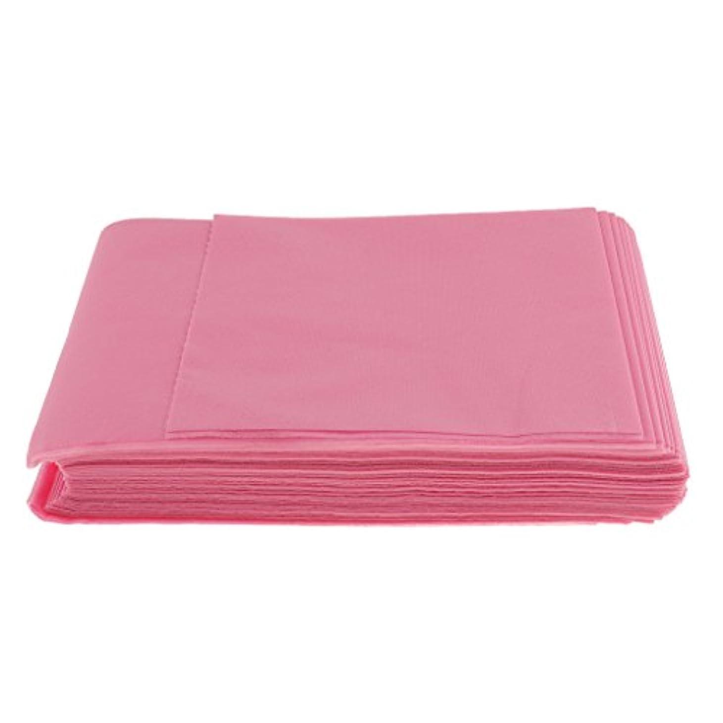 中に裕福な改善Baosity 10枚入り 使い捨て 美容室/マッサージ/サロン/ホテル ベッドパッド 無織PP 衛生シート 全3色選べ - ピンク