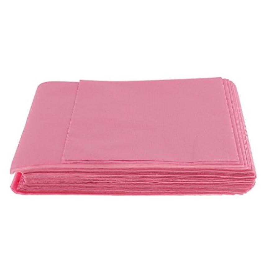 比喩落ち着いた絡まるBaosity 10枚入り 使い捨て 美容室/マッサージ/サロン/ホテル ベッドパッド 無織PP 衛生シート 全3色選べ - ピンク