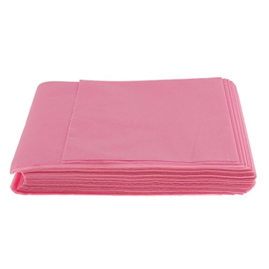 磨かれたまともなストレッチBaosity 10枚入り 使い捨て 美容室/マッサージ/サロン/ホテル ベッドパッド 無織PP 衛生シート 全3色選べ - ピンク