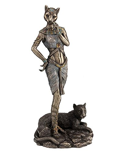 Veronese (ヴェロネーゼ) エジプトの神 豹 ヒョウ 古代 ブロンズ風 フィギュア 胸像