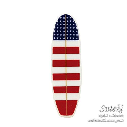 Board Ceramic Cutlery Rest ボードセラミックカトラリーレスト ロングボード 星条旗レッド 【箸置き】