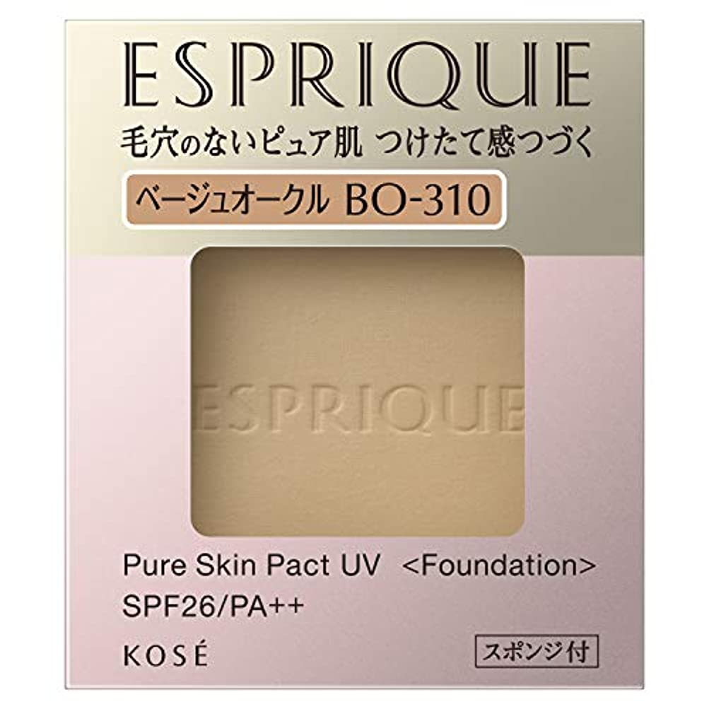 厚いハンマー浸透するエスプリーク ピュアスキン パクト UV BO-310 ベージュオークル 9.3g