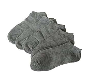 [HKH] ソックス 5足 セット 靴下 25cm 〜 27cm (グレー)