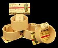 4パック、木製バングルブレスレット、フラットExterior、1.75インチ幅、Mサイズ、ReadyToDecorate ( R )