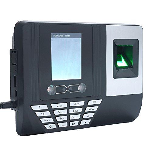 KKmoon 2.8インチ 【顔】【指紋】【カード】【パスワード】タイムレコーダー  LCD画面 DC 5V 顔認証 タイムレコーダー