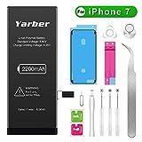 Yarber iPhone7 バッテリー 大容量2200mAh PSEマーク 標準工具セット付き のアイフォン7 バッテリー[2年間の保証]