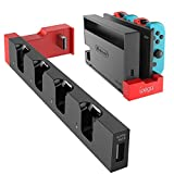 Nintendo Switch用 充電スタンド【最新型】 Joy-Con 4台同時充電 ニンテンドースイッチ対応 充電スタンド 4in1 収納 一体型 急速充電 充電指示ランプ付き