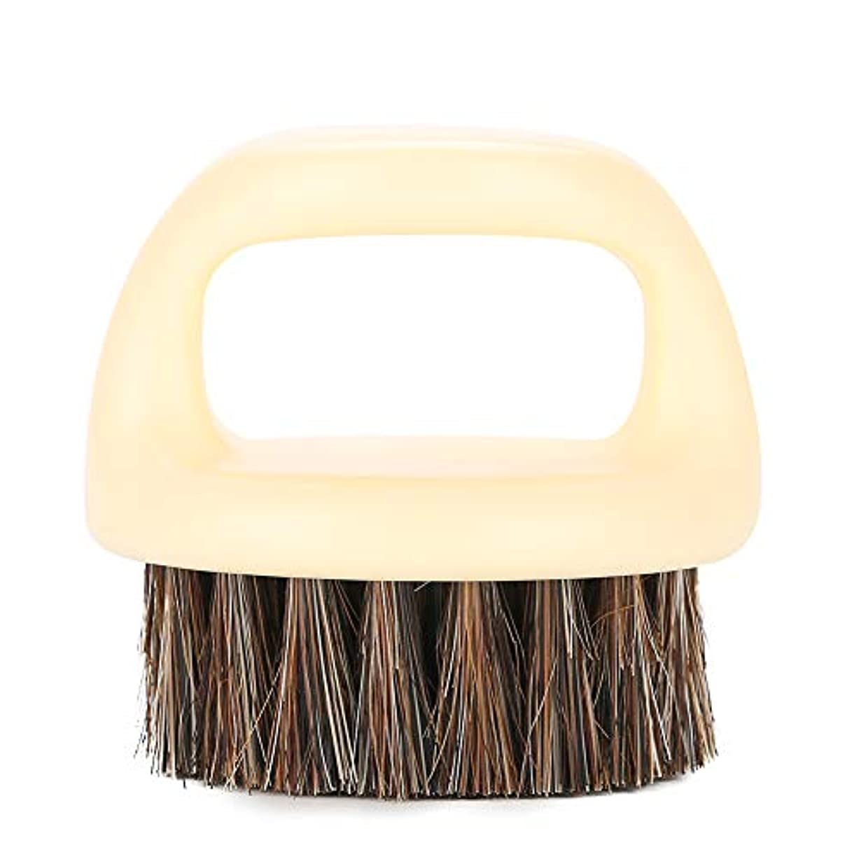 マチュピチュ家庭資格情報ひげブラシ、3スタイルひげグルーミングスタイリングひげケア男性用Beardshaperツール(白いハンドルと黒髪)