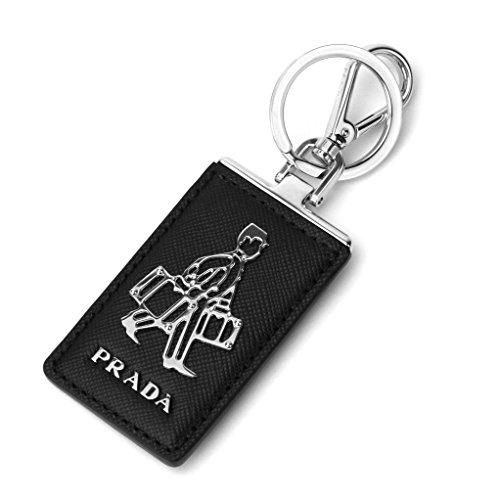 プラダ(PRADA) キーホルダー 2PP712 053 F0002 SAFFIANO ブラック 黒 [並行輸入品]