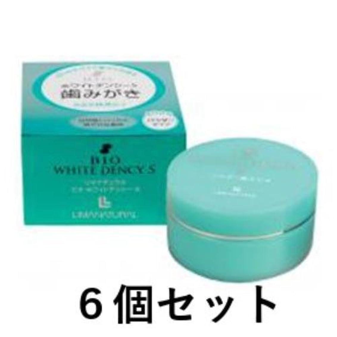正確大脳びっくり自然海塩とハッカ油の爽やかな香味 無添加のパウダー歯磨き ビオ?ホワイトデンシーS 20g 6本セット