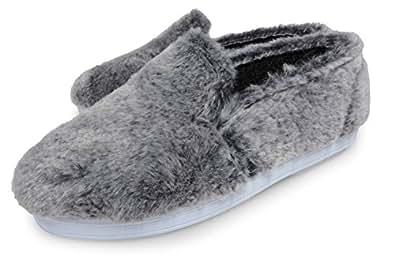 [ コユック ] koyuk 51- スリッポン ファー スニーカー レディース メンズ ユニセックス フェルト ( サイズ 25.0cm ) size 39 ( グレー 灰色 ) GREY もこもこ 靴 ふわふわ 靴ふかふか FUR SLIP-ON MENS LADYS