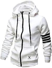 Keaac メンズカジュアルスリムフーディースウェットシャツフルジップトラックジャケット