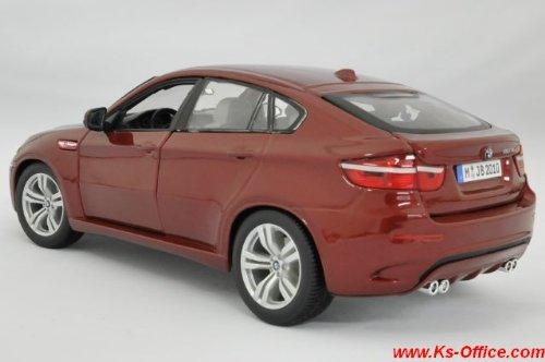 【BMW】X6M(メタリックレッド) 1/18モデルカー(ミニカー)