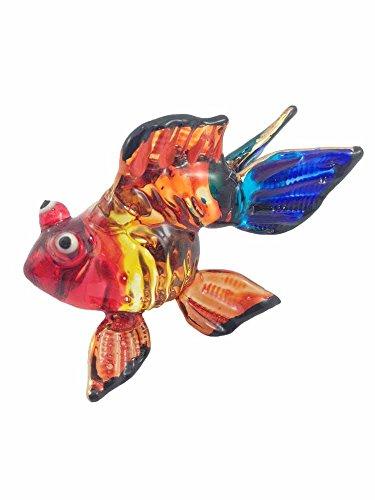 ガラスの動物 金魚 手作り手吹きガラスの ガラス細工 ガラス...