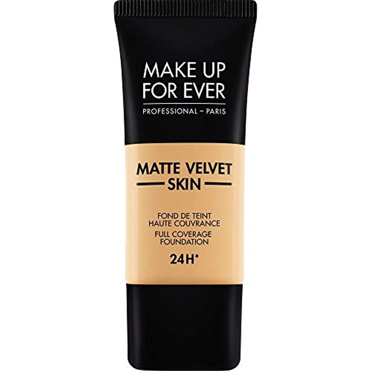 陸軍常習的静める[MAKE UP FOR EVER ] ナチュラルベージュ - これまでマットベルベットの皮膚のフルカバレッジ基礎30ミリリットルのY345を補います - MAKE UP FOR EVER Matte Velvet Skin...