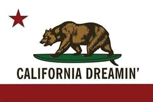 夢のカリフォルニアポスターアメイジング州旗RARE24×36平行輸入額縁共 [並行輸入品]