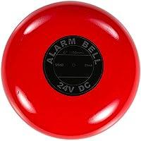 UHPPOTE 可聴式火災警報モーターベル 電圧24VDC サイズ150mm 赤色 極化&抑制