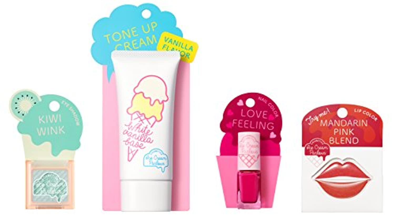 添加剤付き添い人データムアイスクリームパーラー コスメティクス アイスクリームセット E