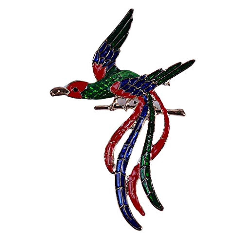 Toporchid 珐琅彩凤凰鸟长尾胸針胸花服饰配件
