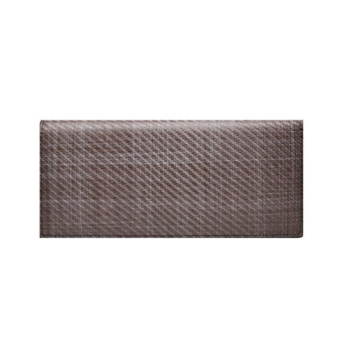 落ち着かないリストオリエンタル【LANZA】 ランザ イタリア製 グラフィット カーボンレザー 二つ折り 長財布