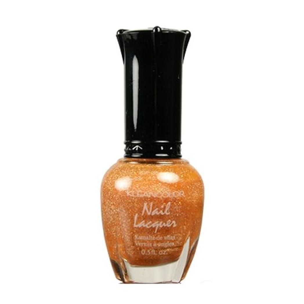 代理人残忍な好み(6 Pack) KLEANCOLOR Nail Lacquer 3 - Holo Orange (並行輸入品)
