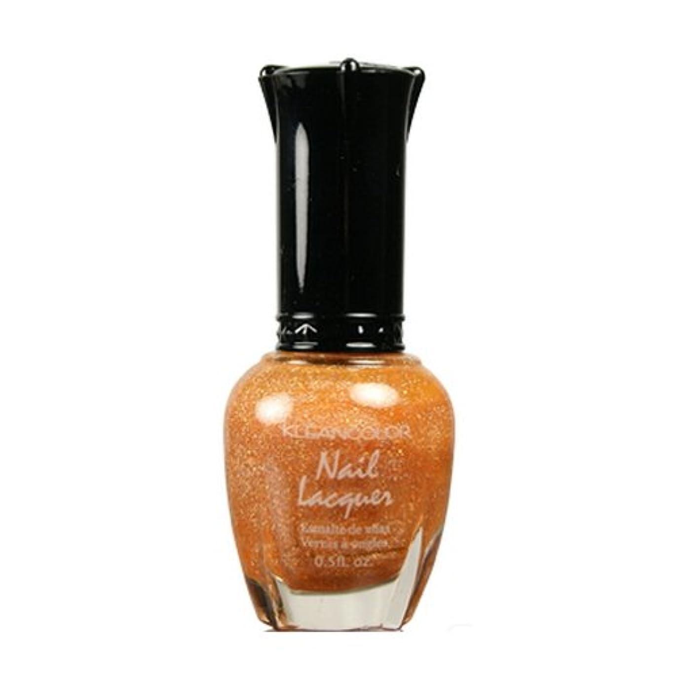 混乱したナイロン粘性のKLEANCOLOR Nail Lacquer 3 - Holo Orange (並行輸入品)