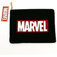 Marvel(マーベル) ロゴ 相良刺繍クラッチバッグ ブラック