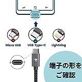 Rampow USB Type C ケーブル【1m/黒/永 久保証付き】急速充電 QuickCharge3.0対応 USB3.0規格 usb-c タイプc ケーブル Sony Xperia XZ/XZ2,Samsung Galaxy S9/S8/A3/A7/A9/C5/7pro/C9,iQOS(アイコス),Nexus 5X/6P,GoPro Hero 5/6 アンドロイド多機種対応 3A急速充電 5Gbps高速データ転送 画像
