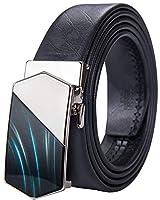 DiBanGu ベルト ビジネス 本革 黒 ロング 牛革 ベルト 自動 バックル 100cm-150cm