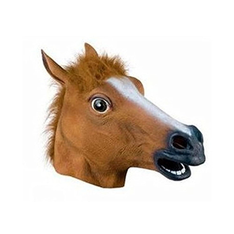 名目上の効率的バトル犬の馬6月ハロウィーン動物のヘッドギアCOSマスク馬のヘッドマスク