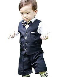7d885b1a26b4b Eiza 男の子 フォーマル スーツ 5点セット 結婚式 発表会 子供 e303