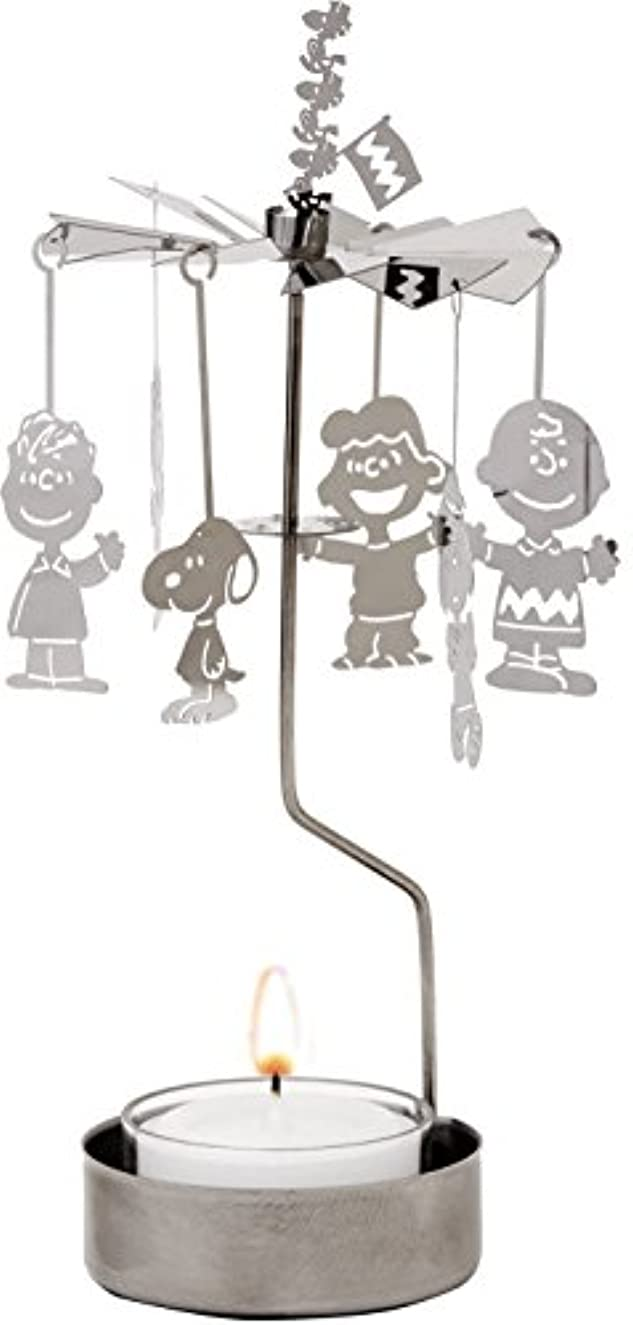 クリスマス排泄するエキスパートカメヤマキャンドルハウス スヌーピーメリーゴーランドキャンドルホルダー ティーライトキャンドル付き
