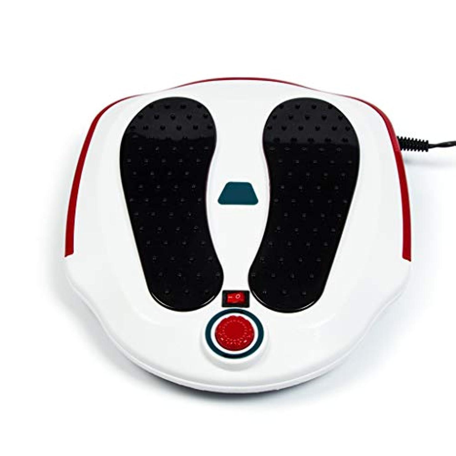 晩ごはんランドマークハドル電気フットマッサージャーマシン足の循環装置、ふくらはぎの足の血液循環のための治療装置をリラックスし、足底マシン(ホワイト)