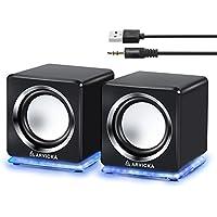 【ARVICKA】pcスピーカー USBスピーカー6W 大音量/ テレビ/PC/タブレット/スマホ対応 [並行輸入品]