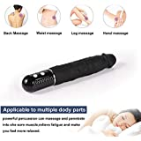 Relieve Fatigue Body Relaxation Powerful 10 Frequency Vibrating Stick Thick and Flexible Huge (Color : Black)